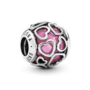 ❤️Pandora Pink Encased in Love Charm